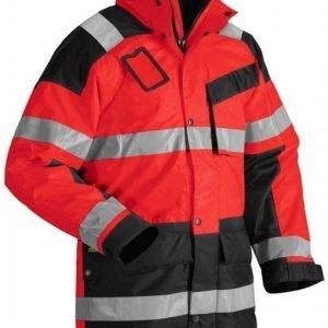 Blåkläder Talviparkas Highvis punainen/musta