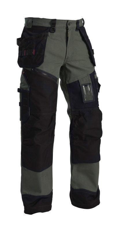 Blåkläder X1500 riipputaskuhousut Army green/Musta