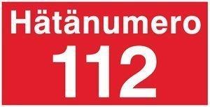Hätänumero 112 400x100 mm