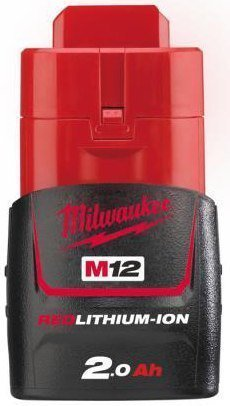 Milwaukee Red Lithium-Ion 12 V - 2.0 AH akku