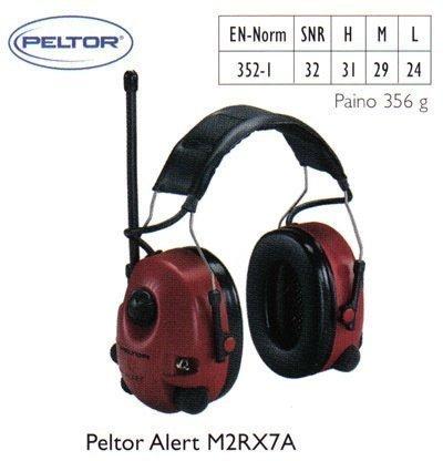 Peltor Alert M2RX7A kuulosuojain