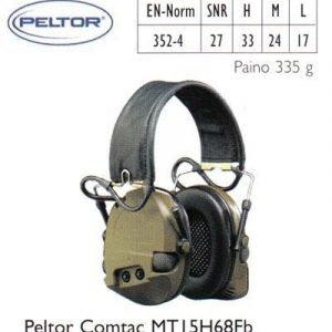 Peltor Comtac MT15H68Fb kuulosuojain