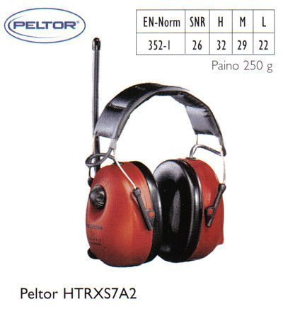 Peltor HTRXS7A2 kuulosuojain