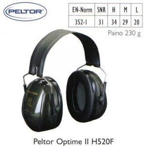 Peltor Optime II H520F kuulosuojain