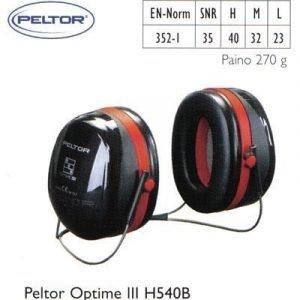 Peltor Optime III H540B kuulosuojain
