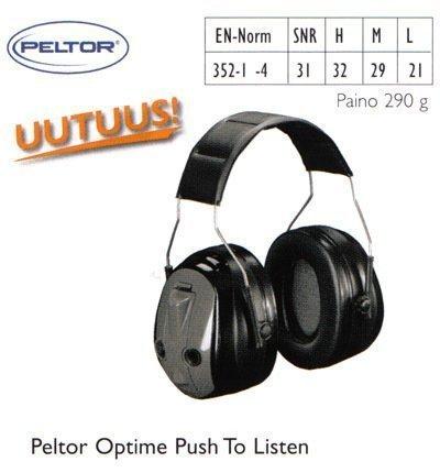 Peltor Optime Push To Listen kuulosuojain