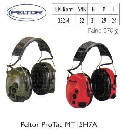 Peltor ProTac MT15H7A kuulosuojain