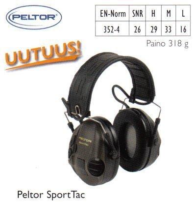 Peltor SportTac kuulosuojain