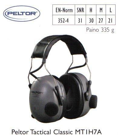 Peltor Tactical Classic MT1H7A kuulosuojain