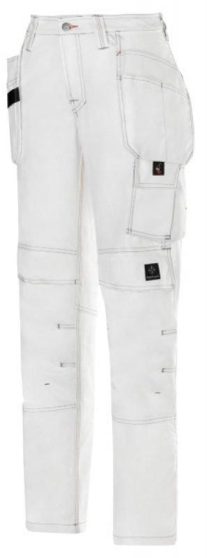Snickers Maalarin housut riipputaskuilla naisten valkoinen