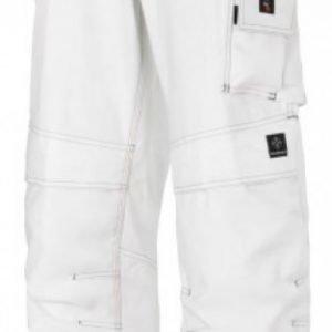 Snickers Maalarin housut riipputaskuilla valkoinen