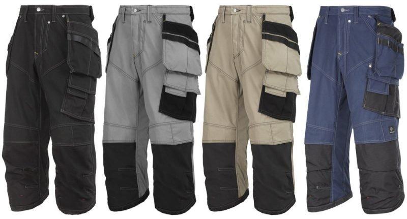 Snickers Pirate-housut riipputaskuilla ripstop eri värejä