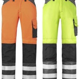 Snickers Varoitusvaate housut luokka 2 eri värejä