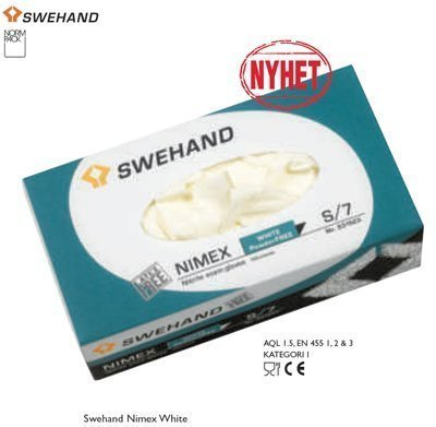 Swehand Nimex White nitriilikäsineet