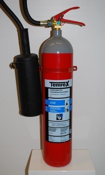 Temrex KS 5 E hiilidioksidisammutin