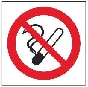 Tupakointi kielletty 100x100 mm
