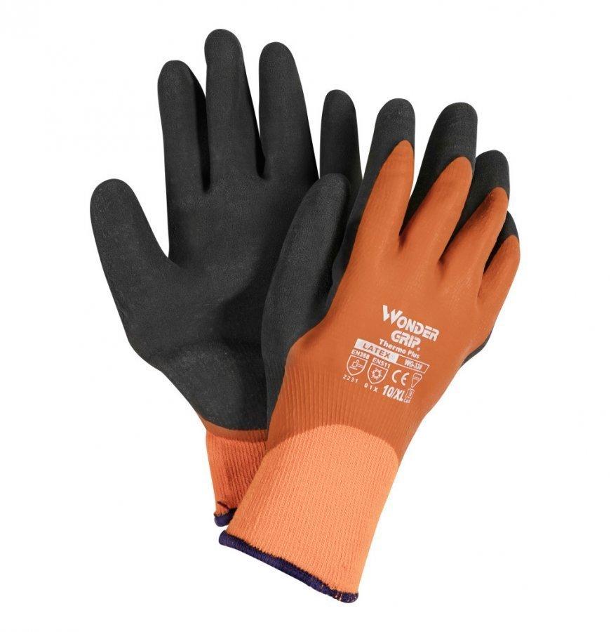 Wonder Grip Thermo Plus Talvityökäsine 10 Oranssi